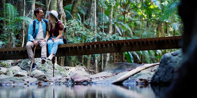 The retreat has 8 kilometres of rainforest walks