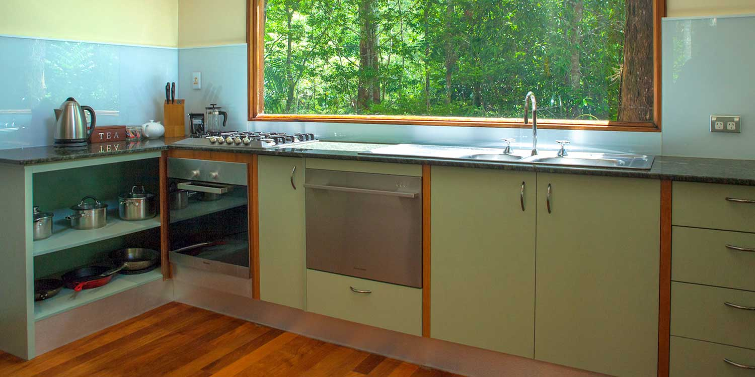 The fully equipped kitchens in the Rainforest Canopy Bungalows will satisfy the most avid self-catering home chef