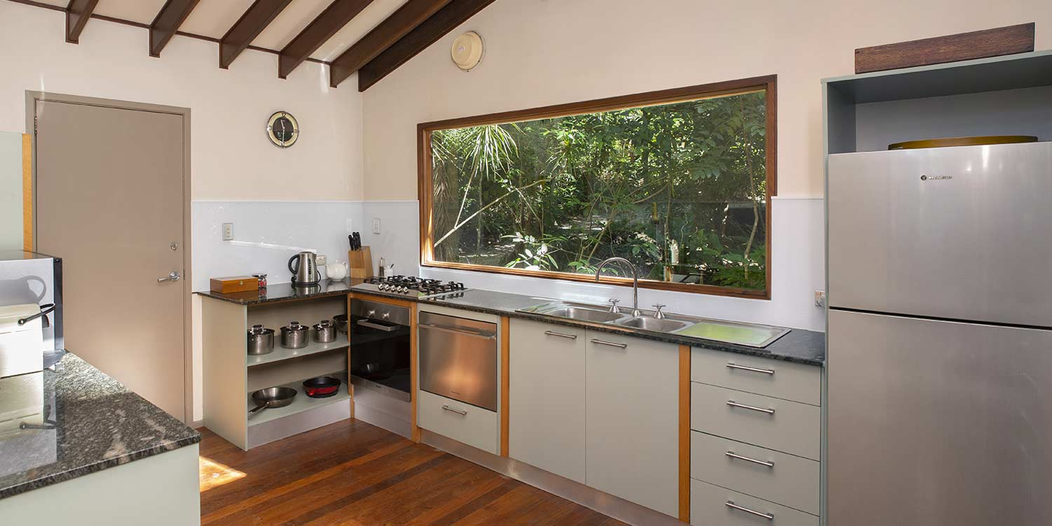 The Rainforest Canopy Bungalows have fully equipped kitchens with generous fridges for those who like to self-cater.