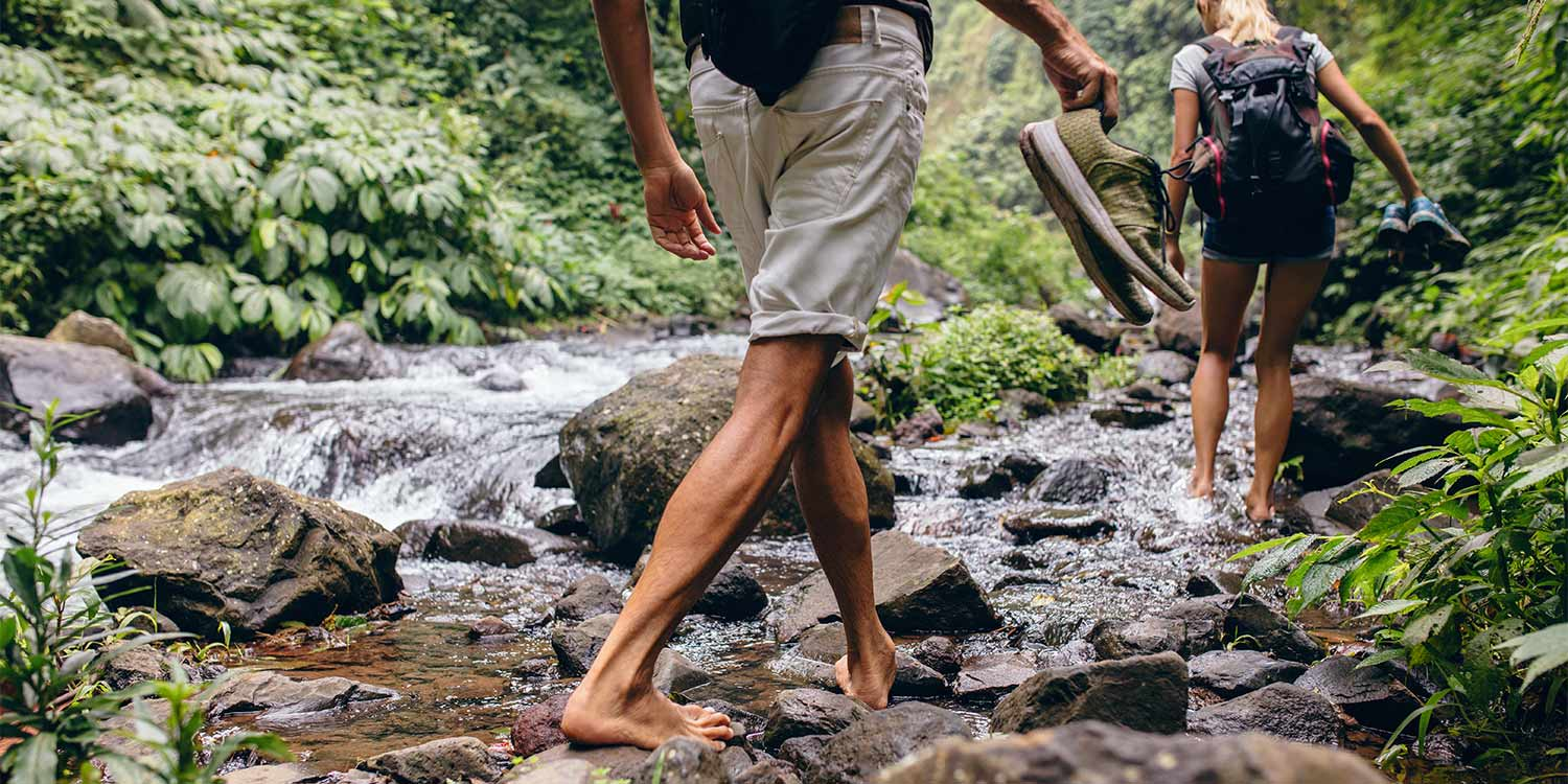 If you're into romantic hikes with your loved one, Crystal Creek Rainforest Retreat has 8km of walks including along the creek itself