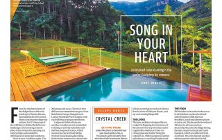Sunday Courier-Mail 9 September 2018 Escape – Song in Your Heart