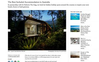 Broadsheet 12 October 2018 – Australia's Best Secluded Getaways