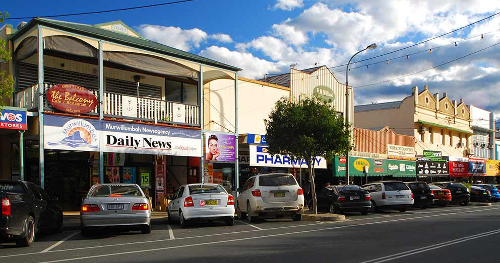 Murwillumbah, in the Tweed Valley, is the nearest town to our Retreat
