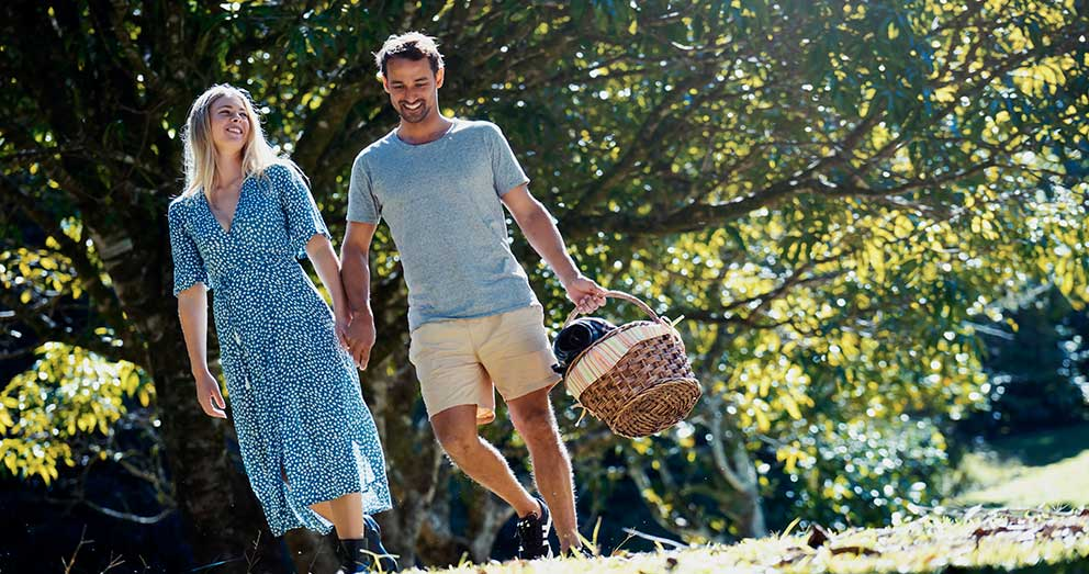 Explore the orchard with your loved one and a Picnic Pack, a hearty meal collected from reception